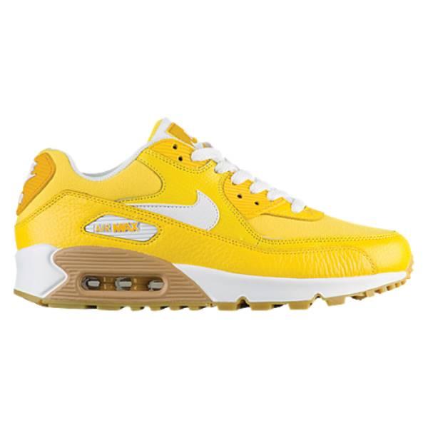 ナイキ レディース ランニング・ウォーキング シューズ・靴【Air Max 90】Tour Yellow/White/Gum Lt Brown/Mineral Yellow