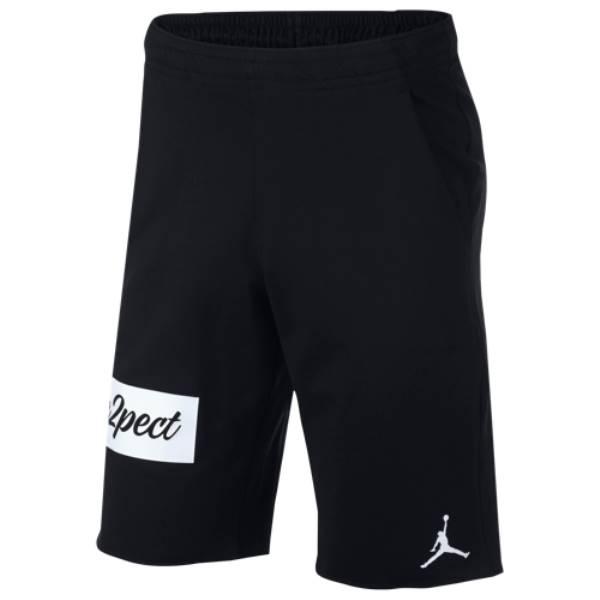 ナイキ ジョーダン メンズ バスケットボール ボトムス・パンツ【Re2pect Flight Fleece Shorts】Black/White