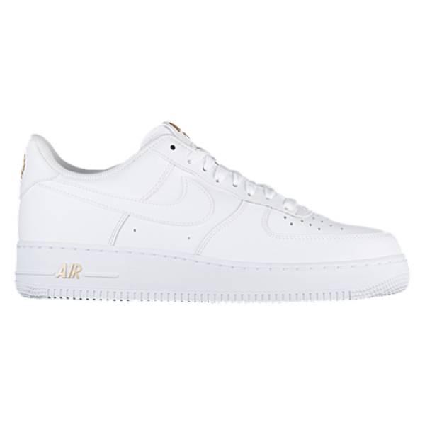 ナイキ メンズ バスケットボール シューズ・靴【Air Force 1 Low】White/White/Metallic Gold