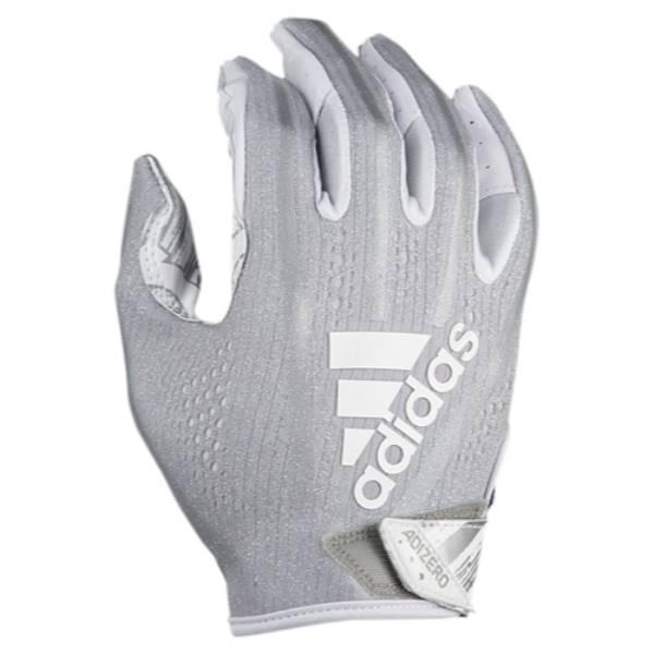 アディダス メンズ アメリカンフットボール グローブ【adiZero 5-Star 7.0 Receiver Glove】Metallic Silver/White/Speed Of Light