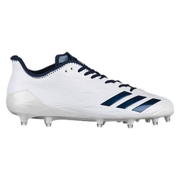アディダス メンズ アメリカンフットボール シューズ・靴【adiZero 5-Star 6.0】White/College Navy/College Navy