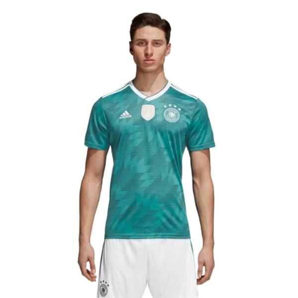 アディダス メンズ サッカー トップス【Germany Climalite Replica Jersey】Eqt Green/White/Real Teal