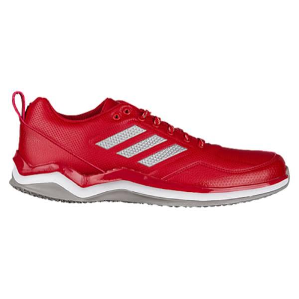 アディダス メンズ 野球 シューズ・靴【Speed Trainer 3.0】Power Red/Silver Metallic/White