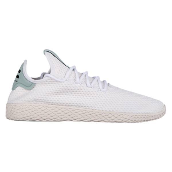 アディダス メンズ テニス シューズ・靴【PW Tennis HU】White/White/Tactile Green