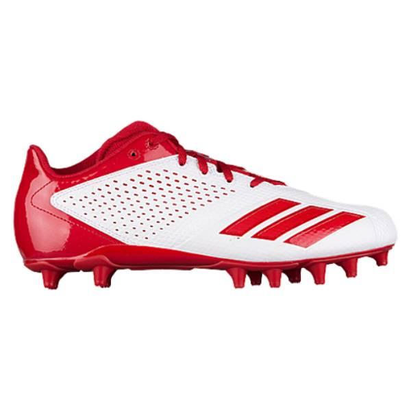 アディダス メンズ アメリカンフットボール シューズ・靴【5-Star Low】White/Power Red/Power Red