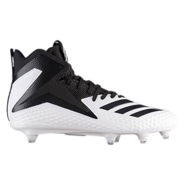 アディダス メンズ アメリカンフットボール シューズ・靴【Freak Mid D】White/Black
