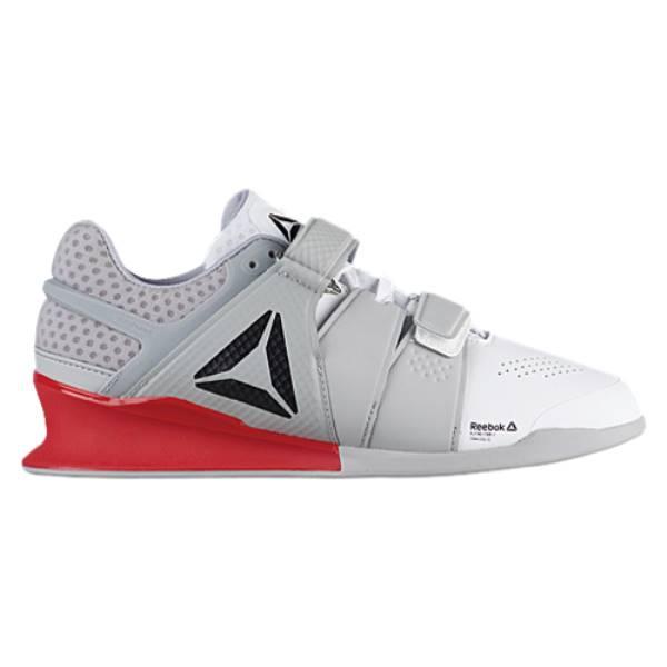 リーボック メンズ フィットネス・トレーニング シューズ・靴【Legacy Lifter】White/Stark Grey/Red