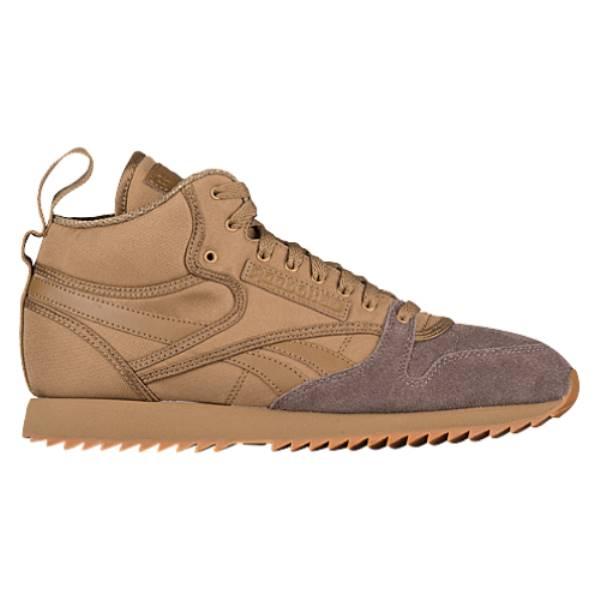 リーボック メンズ ランニング・ウォーキング シューズ・靴【Classic Leather Mid Ripple】Thatch/Trek Grey