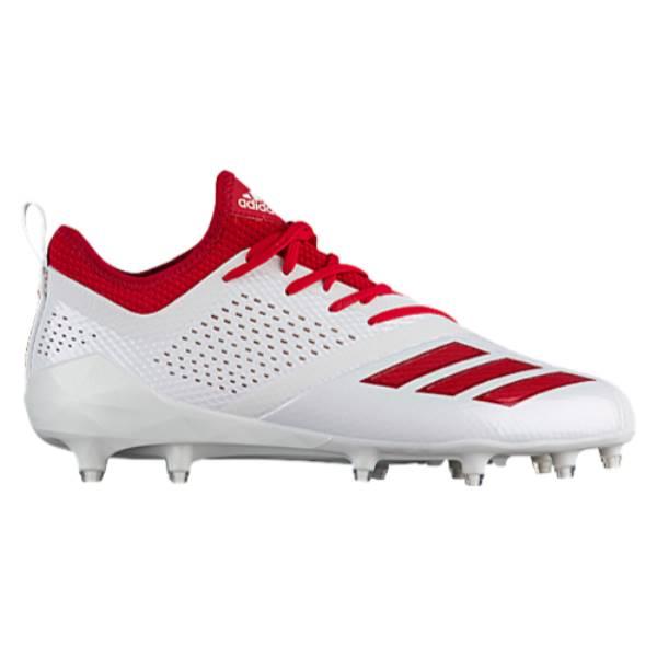 アディダス メンズ アメリカンフットボール シューズ・靴【adiZero 5-Star 7.0】White/Power Red