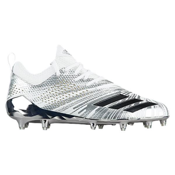 アディダス メンズ アメリカンフットボール シューズ・靴【adiZero 5-Star 7.0 Metallic】Silver Metallic/Silver Metallic/White