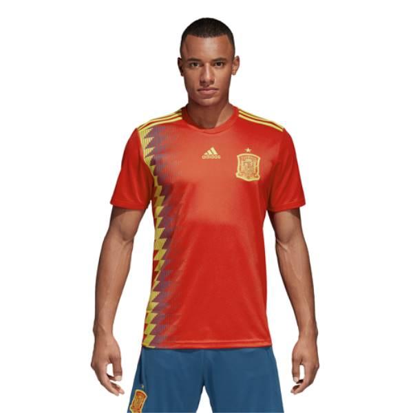 アディダス メンズ サッカー トップス【Spain Climalite Replica Jersey】Red/Bold Gold