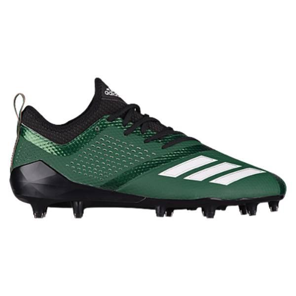 アディダス メンズ アメリカンフットボール シューズ・靴【adiZero 5-Star 7.0】Black/White/Dark Green