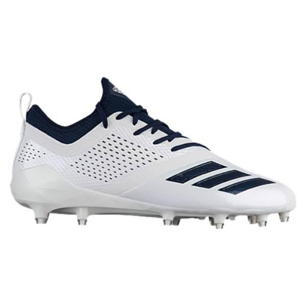 アディダス メンズ アメリカンフットボール シューズ・靴【adiZero 5-Star 7.0】White/Collegiate Navy