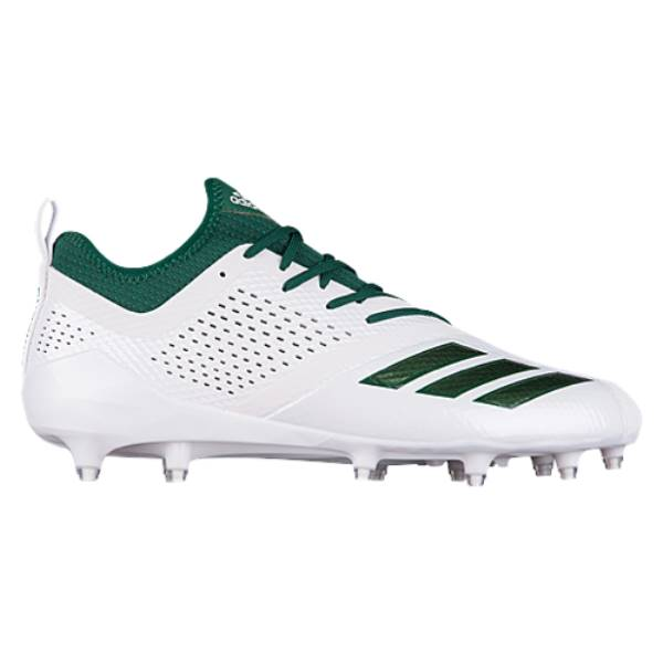 アディダス メンズ アメリカンフットボール シューズ・靴【adiZero 5-Star 7.0】White/Dark Green