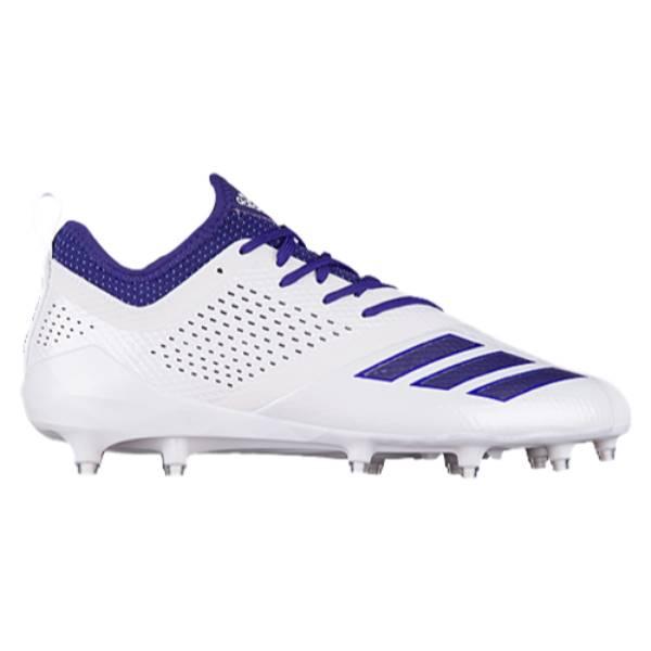 アディダス メンズ アメリカンフットボール シューズ・靴【adiZero 5-Star 7.0】White/Collegiate Purple