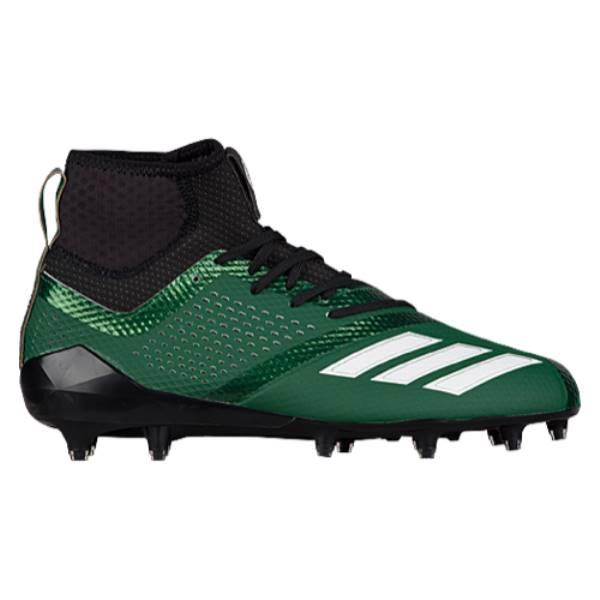 アディダス メンズ アメリカンフットボール シューズ・靴【adiZero 5-Star 7.0 Mid】Dark Green/White/Black