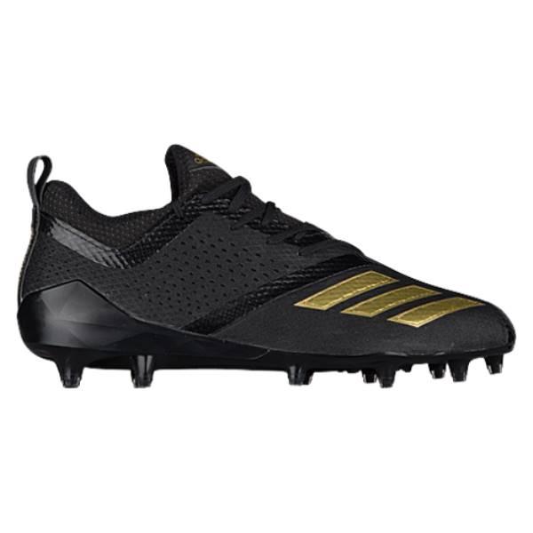 アディダス メンズ アメリカンフットボール シューズ・靴【adiZero 5-Star 7.0】Black/Metallic Gold/Black