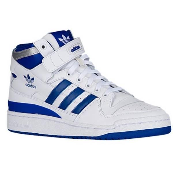 アディダス メンズ バスケットボール シューズ・靴【Forum Mid Refined】White/Royal
