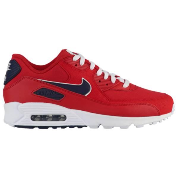 ナイキ メンズ ランニング・ウォーキング シューズ・靴【Air Max 90】University Red/Blackened Blue/White