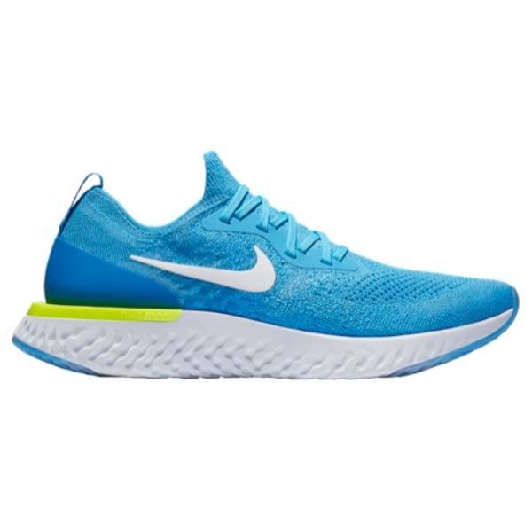 ナイキ メンズ ランニング・ウォーキング シューズ・靴【Epic React Flyknit】Blue Glow/White/Blue Volt/Glow