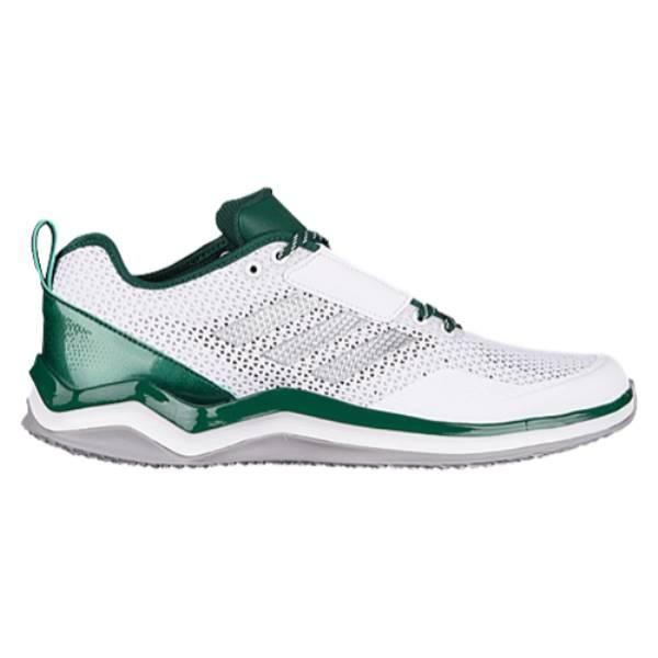 アディダス メンズ 野球 シューズ・靴【Speed Trainer 3.0】White/Silver Metallic/Dark Green