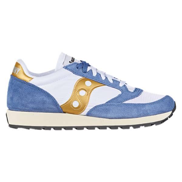 品揃え豊富で サッカニー メンズ ランニング・ウォーキング サッカニー メンズ シューズ・靴【Jazz Vintage】White/Blue/Gold, ELLY タオル館:b7d494c4 --- isaksadeltra.se