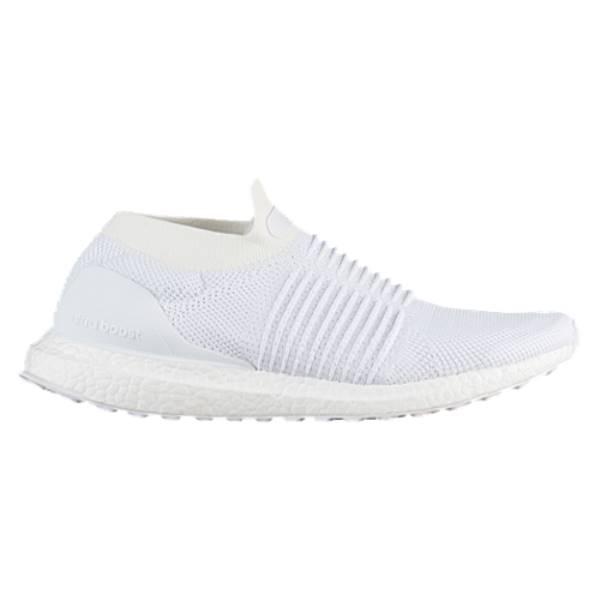 アディダス メンズ ランニング・ウォーキング シューズ・靴【Ultra Boost Laceless】Crystal White/Pearl Grey