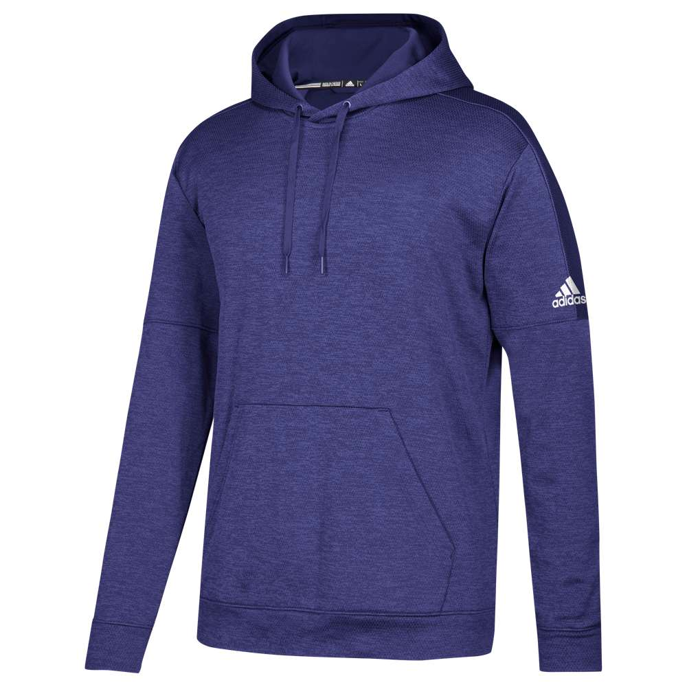 アディダス メンズ トップス フリース【Team Issue Fleece Pullover Hoodie】Collegiate Purple/White