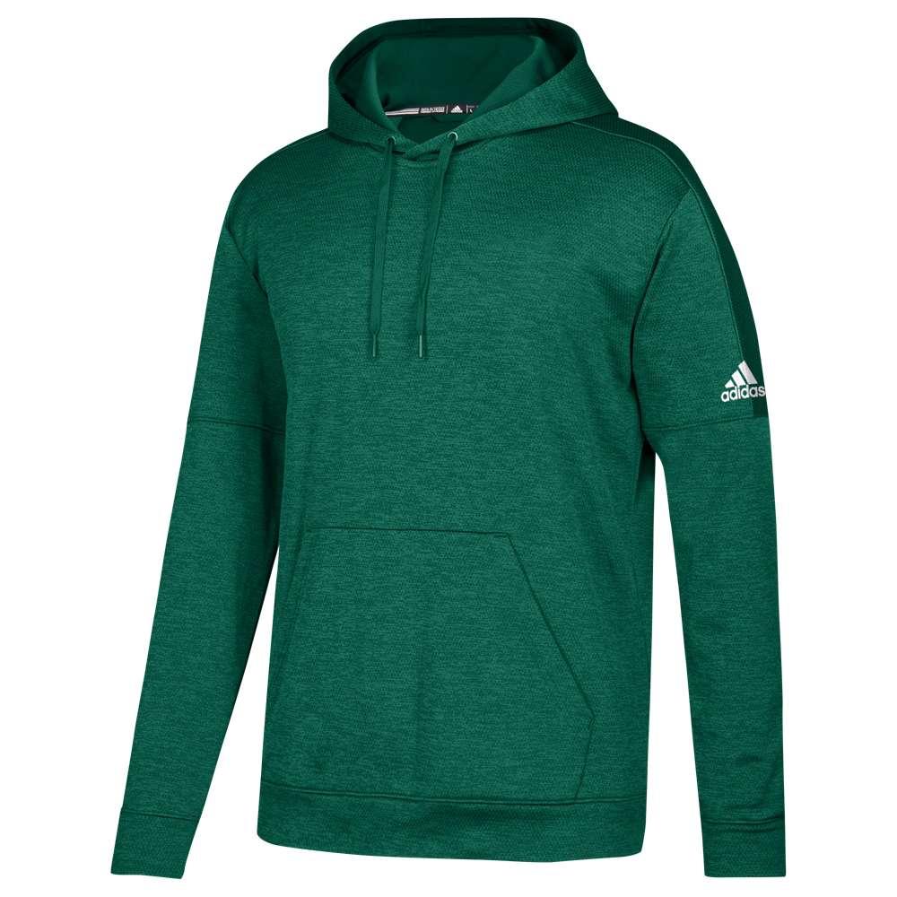 アディダス メンズ トップス フリース【Team Issue Fleece Pullover Hoodie】Dark Green/White