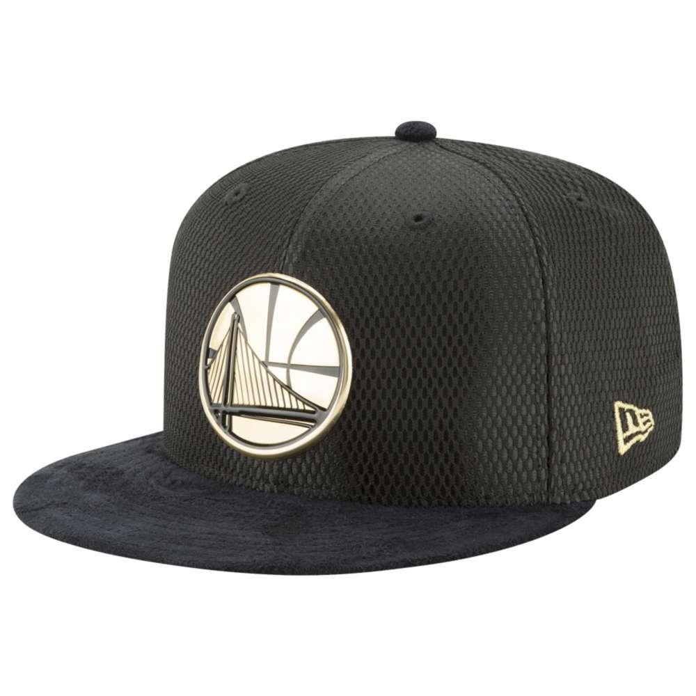 ニューエラ メンズ 帽子 キャップ【NBA 59Fifty On Court Cap】Black/Gold