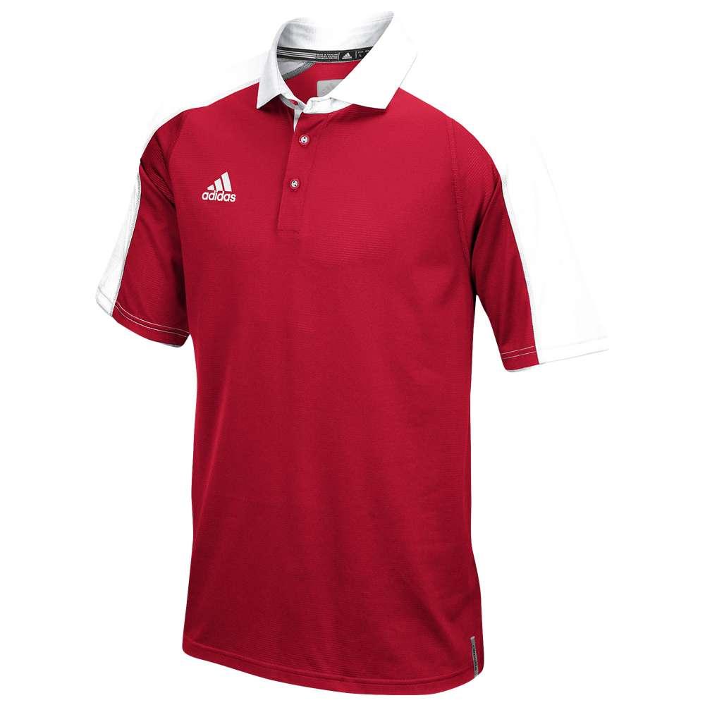 アディダス メンズ トップス ポロシャツ【Team Modern Varsity Polo】Power Red/White