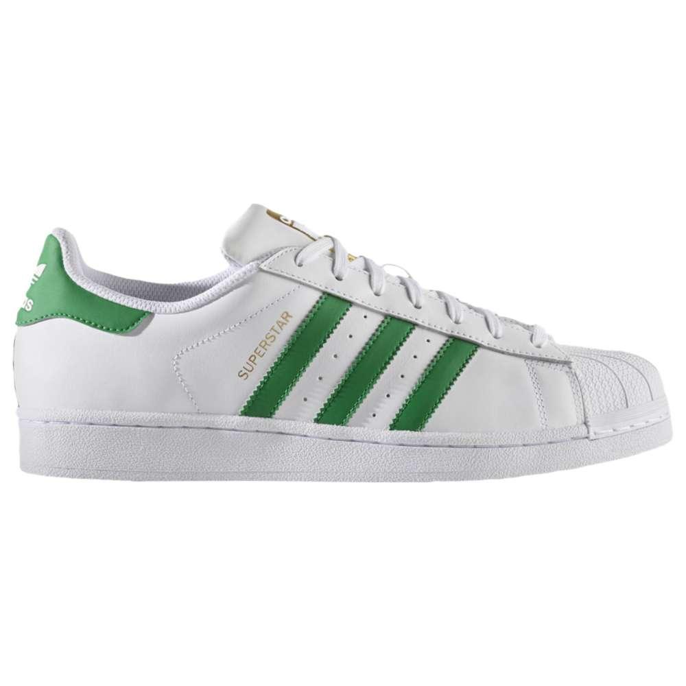 アディダス メンズ バスケットボール シューズ・靴【Superstar】White/Green/Gold Metallic