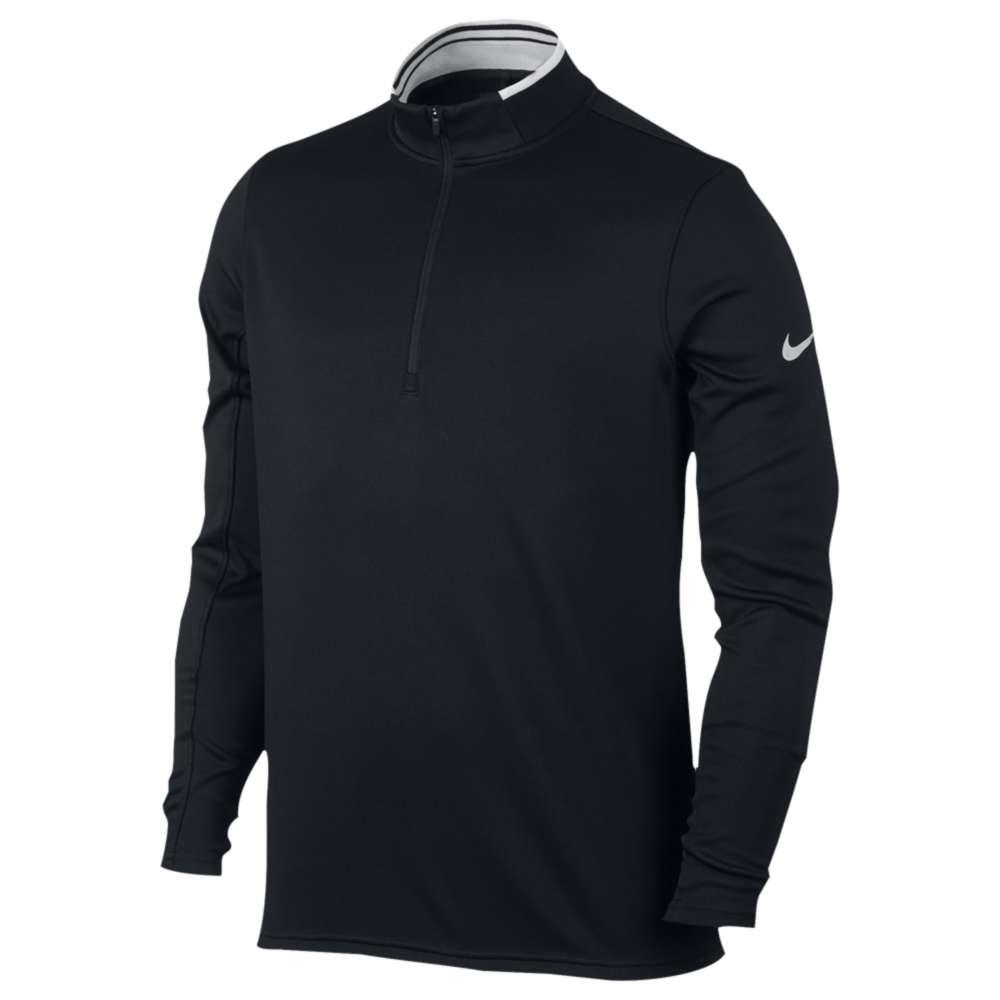 ナイキ メンズ ゴルフ トップス【Dri-FIT Golf 1/2 Zip Ls Top】Black/White