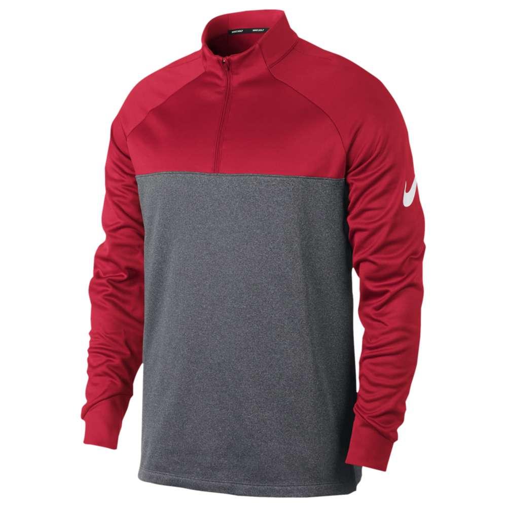 ナイキ メンズ ゴルフ トップス【Therma Fit 1/2 Zip Cover Up】University Red/Dark Grey/Heather/White