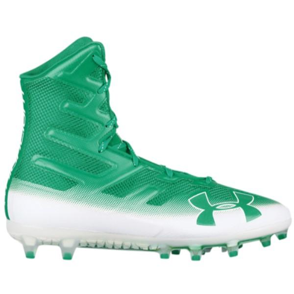 アンダーアーマー メンズ アメリカンフットボール シューズ・靴【Highlight MC】Classic Green/White