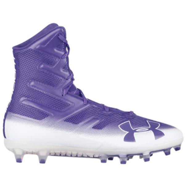 アンダーアーマー メンズ アメリカンフットボール シューズ・靴【Highlight MC】Purple/White