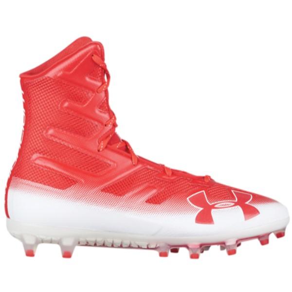 アンダーアーマー メンズ アメリカンフットボール シューズ・靴【Highlight MC】Red/White