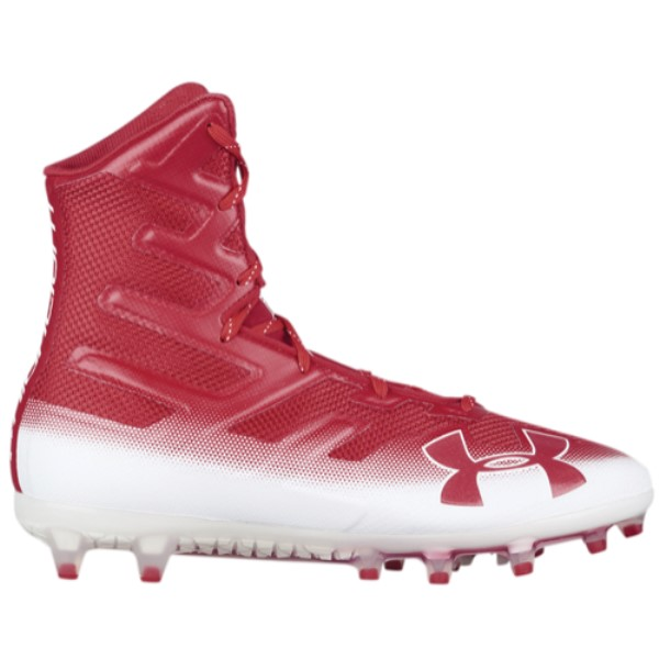 アンダーアーマー メンズ アメリカンフットボール シューズ・靴【Highlight MC】Cardinal/White