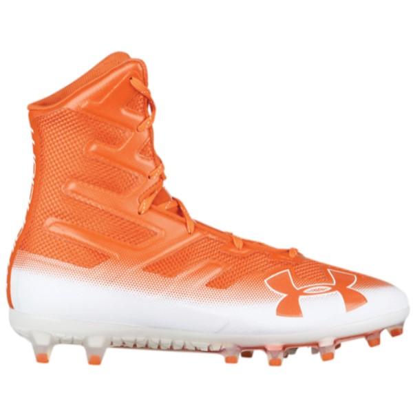 アンダーアーマー メンズ アメリカンフットボール シューズ・靴【Highlight MC】Team Orange/White