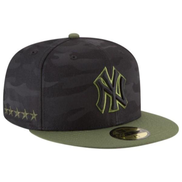 ニューエラ メンズ 帽子 キャップ【MLB 59Fifty Memorial Day Cap】Black/Green Camo