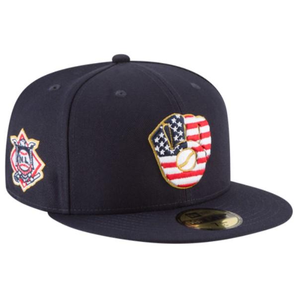 ニューエラ メンズ 帽子 キャップ【MLB 59Fifty July 4th Cap】Navy