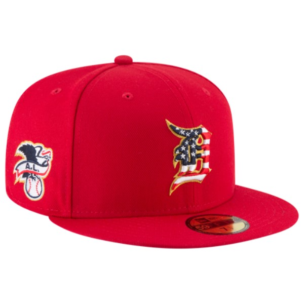 ニューエラ メンズ 帽子 キャップ【MLB 59Fifty July 4th Cap】Red
