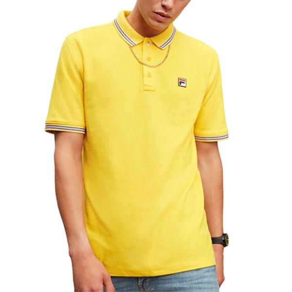 フィラ メンズ トップス ポロシャツ【Matcho 3 Polo】Lemon Chrome