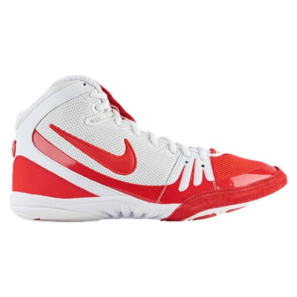 ナイキ メンズ レスリング シューズ・靴【Freek】White/University Red