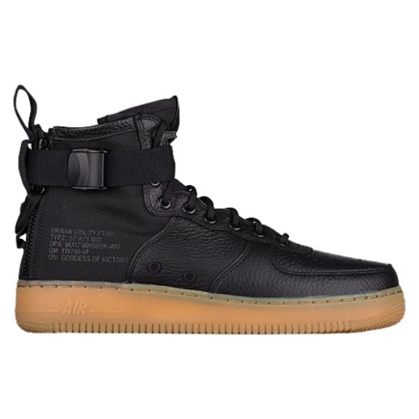 ナイキ メンズ バスケットボール シューズ・靴【SF Air Force 1 Mid '17】Black/Black/Gum Light Brown