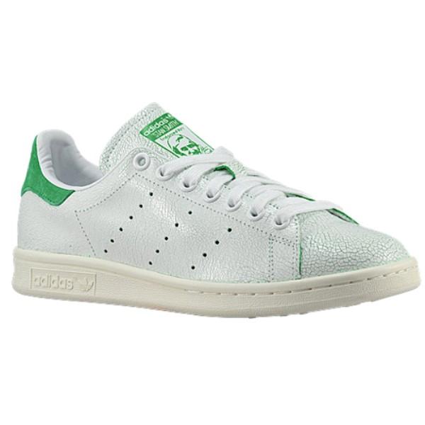 アディダス レディース テニス シューズ・靴【Stan Smith】White/White/Green