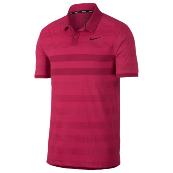 ナイキ メンズ ゴルフ トップス【Zonal Cooling Stripe Golf Polo】Rush Pink/Black