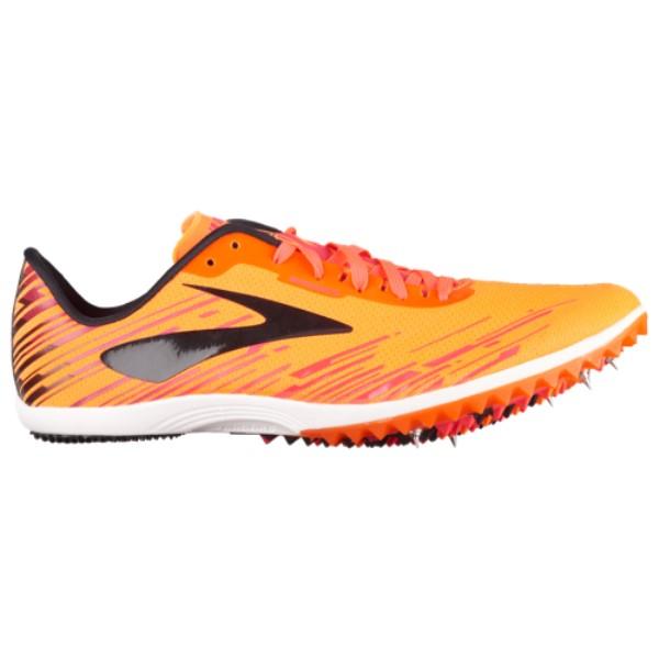 ブルックス メンズ 陸上 シューズ・靴【Mach 18 Spike】Orange/Pink/Black