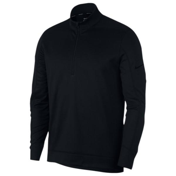 ナイキ メンズ ゴルフ トップス【Therma Repel 1/2 Zip Golf Top】Black/Black