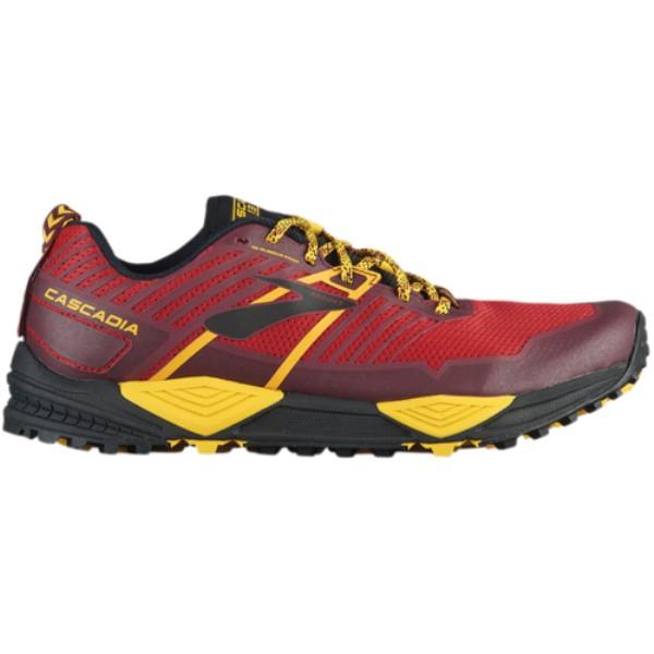 ブルックス メンズ ランニング・ウォーキング シューズ・靴【Cascadia 13】Red/Yellow/Black